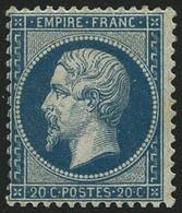 * N°22 20c Bleu, Signé Calves - TB - 1862 Napoleon III
