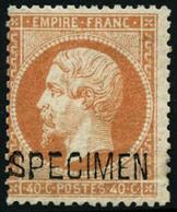 ** N°23d 40c Orange, Spécimen Signé Brun - TB - 1862 Napoleon III
