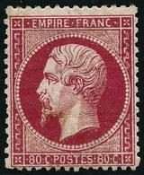 * N°24 80c Rose, Quasi SC - TB - 1862 Napoleon III