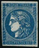 ** N°45C 20c Bleu R3, Type II - TB - 1870 Emissione Di Bordeaux