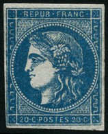 ** N°45C 20c Bleu R3, Type II - TB - 1870 Ausgabe Bordeaux