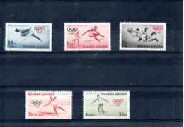 Ruanda-Urundi Nº 219-23 Olimpiadas, Serie Completa En Nuevo 4,50 € - Sommer 1960: Rom