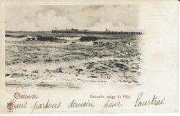 OOSTENDE-OSTENDE- ESTACADE-STAKETSEL-1899 - Oostende