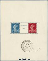 * N°2a Càd Hors Les Timbres 12/6/27 - TB - Sheetlets