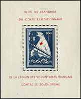 ** N°1 1F + 100F Bleu Et Rouge ( Bloc De L'ours) - TB - Sheetlets