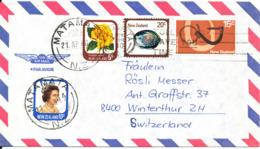 New Zealand Air Mail Cover Sent To Switzerland Matamata 21-4-1980 - Airmail