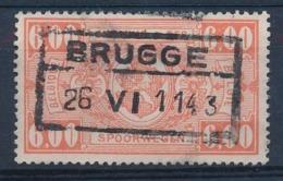 """TR 251 - """"BRUGGE"""" - """"Bruges"""" Geschrapt/limé - Afm. 32 X 15 Mm, B→E = 22 Mm -(ref. 29.730) - Railway"""
