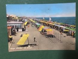 Cartolina Misano Adriatica - La Spiaggia - 1962 - Rimini