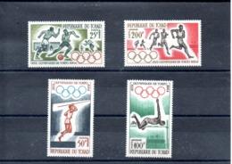 R.Tchad Nº Aereo 18-21 Olimpiadas, Serie Completa En Nuevo 11 € - Verano 1964: Tokio