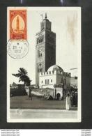 MAROC - Carte MAXIMUM 1950 - MARRAKECH - La Koutoubia Et Le Vieux Marabout - Altri