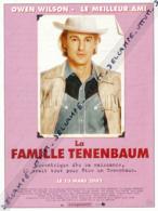 Fiche, Film, Affiche (2002) : LA FAMILLE TENENBAUM, Owen Wilson, Eli Cash, Le Meilleur Ami, Coupure Revue - Fiches Illustrées