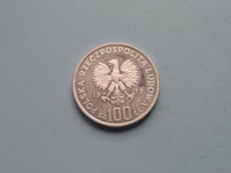 1979 ( Silver ) 100 Zloty ZAMENHOF / Y# 103 ( For Grade, Please See Photo ) ! - Pologne