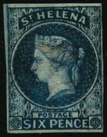 Oblit. N°1 6p Bleu - TB - St. Helena