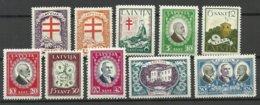 LETTLAND Latvia 1930 Michel 161 - 170 Tuberkulosis * - Lettland