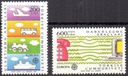 Cept 1988 Turkije Turquie Turkei Yvertn° 2557-2558 *** MNH Cote 10 € Europa - 1988