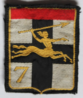 écusson Tissu Patch 7ème Division Légère Blindée - Patches