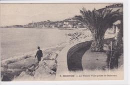 06 MENTON La Vieille Ville Prise De Garaveau 1910 - Menton