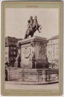 Germany 1889 Cabinet Portrait Photo Dresden Monument Equestrian Statue Augustus II King Poland Grand Duke Lithuania - Dresden