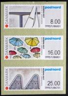 DENMARK 2017  NORDIA Vejle Strip Of 3 ATM Labels UM/MNH   MiNr.108-10      ( Lot  D 1226 ) - Vignette Di Affrancatura (ATM/Frama)