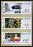 DENMARK 2016  NORDIA Juväskilä  Strip Of 3 ATM Labels UM/MNH   MiNr.90-92      ( Lot  D 1217 ) - Vignette Di Affrancatura (ATM/Frama)
