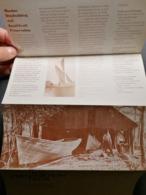 Old Large Prospekt For Book FLIER WOODEN SHIPBUILDING Small Craft Preservation 1970's - Publicité