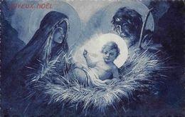 Joyeux Noel Christmas! Virgin Birth, Nativity Scene, Postcard - Greetings From...