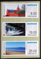 DENMARK 2016 HALLFRIM 2016 Strip Of 3 ATM Labels UM/MNH   MiNr.93-95      ( Lot  D 1277 ) - Vignette Di Affrancatura (ATM/Frama)