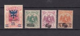 Albanien - 1920/22 - Michel Nr. 72 + 77 III + 81 II + 82 - 35 Euro - Albania