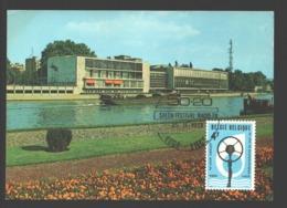 50 Jaar Omroep / 50 Ans De Radiodiffusion - FDC 1973 - Postkaart - Liège / Luik Palais Des Congrès - FDC