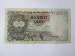 Latvia/Lettonie/Lettland 10 Latu 1937 Banknote - Letland