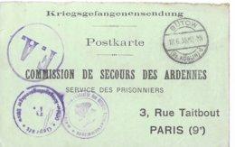 Ardenne Fléville  Emile Aubiat   Butow  Prisonnier - Storia Postale