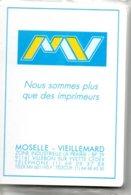 Jeu De 32 Cartes A Jouer Publicitaire Imprimerie MV Playing Card Luxe - 32 Cards
