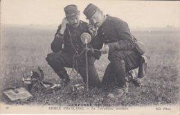 MILITARIA---CAMPAGNE DE 1914---armée Française--la Téléphonie Militaire --voir 2 Scans - Guerra 1914-18