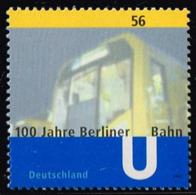 Bund 2002, Michel# 2242 ** 100 Jahre Berliner U-Bahn - BRD
