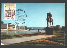 Journée Du Timbre 1966 - Conférence Européenne De L'I.P.T.T. 9-10-1973 - Carte Postale Liège Palais Des Congrès - Belgique