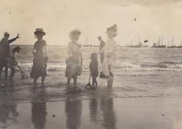 1907 Photo Quiberon  Bateau Bain De Pied - Lugares