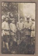 CPA PHOTO 52 - MARCILLY - GUERRE 14-18 - Groupe De Caporaux Arrivant Sur Le Front Français - TB GROS PLAN POILUS - France