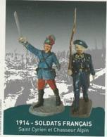 SOLDATS FRANCAIS   Centenaire De La Somme ; Glisy  à Cheval Sur 2 Scans - Entiers Postaux