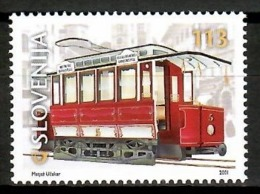 Slovenia 2001 Eslovenia / Transport Tram MNH Transporte Tranvía / Cu14011  4-18 - Tranvías