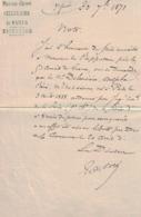 Paris 1871,  Suite à La Commune (lettre 30/09/71), Maison D'arrêt De Paris Signé Par Edouard Coré Au Sujet Deleusière - Autographes