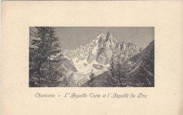 74 CHAMONIX MONT BLANC AIGUILLE DU DRU AIGUILLE VERTE  Editeur JULLIEN FRERES - Chamonix-Mont-Blanc