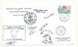 YT 3103 Corsaires Basques - Posté à Bord De MD - Héli Réunion - Alfred Faure - Crozet - 10/11/1997 - Francia