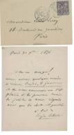 Paris 1876, Lettre Du 30/12/1876 Manuscrite D'Eugène Labiche. Cachet Rue De Luxembourg. - Autógrafos