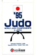JUDO Grand Sticker Monde 1995 - Sports De Combat