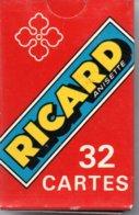 RICARD Anisette Jeu De 32 Cartes A Jouer Publicitaire - Playing Card - 32 Karten