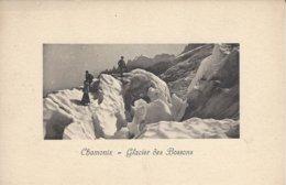 74 LES BOSSONS ALPINISTES SUR LE GLACIER DES BOSSONS VALLEE DE CHAMONIX MONT BLANC  Editeur JULLIEN FRERES - Chamonix-Mont-Blanc