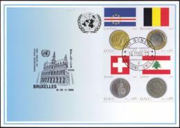 UNO GENF 2006 Mi-Nr. 360 Blaue Karte - Blue Card  Mit Erinnerungsstempel BRÜSSEL - Cartas