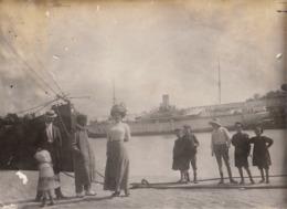 1911 2 Photos Prise à Saint Nazaire Bateau - Lieux