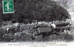 Alleyras. Ligne Langogne-Langeac. Terrible Déraillement D'un Train De Marchandise Entre Alleyras Et Champeauroux. - France