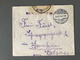 WWI - Lettre Avec Griffe De Censure Militaire 1914 - 2 Photos - (B2401) - Marcofilia (sobres)